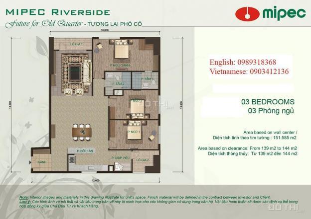 Bán căn hộ chung cư tại dự án Mipec Riverside, Long Biên, Hà Nội, diện tích 150m2, giá 5.3 tỷ 12928338