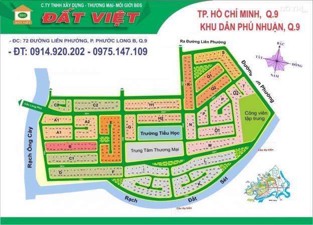 Bán đất dự án Phú Nhuận quận 9, chính chủ, lô H1, DT 14x22m, bán nhanh giá rẻ 12965852