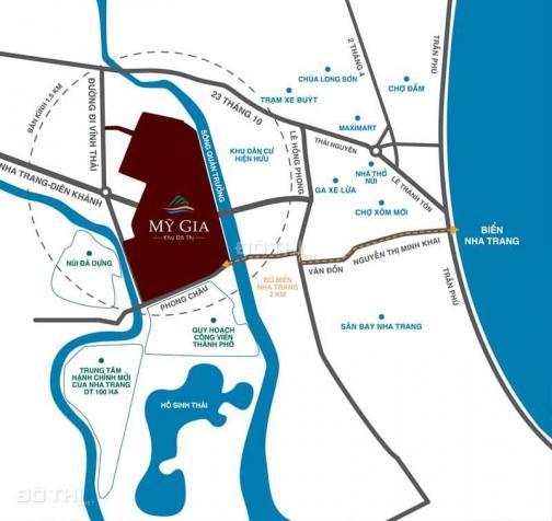 Chỉ cần chưa đến 2 tỷ đã mua được 100m2 đất ở đô thị Nha Trang, 100m2 hướng Đông Bắc. Giá 1,85 tỷ 13085295