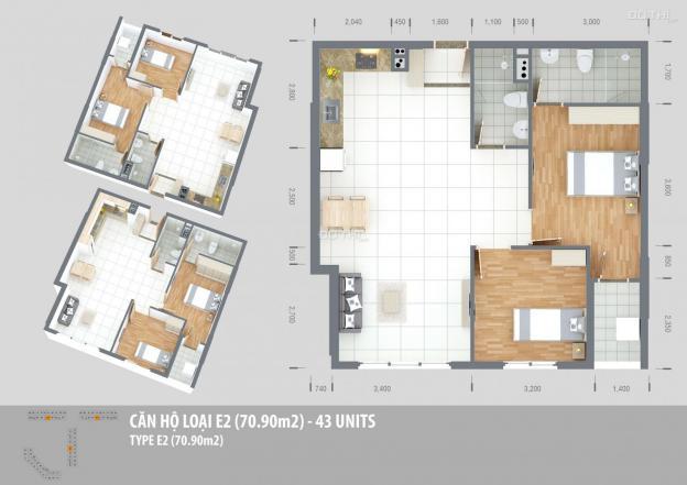 Bán căn hộ 2PN Green Town Bình Tân, diện tích 70.9m2, giá 1.66 tỷ 13403803