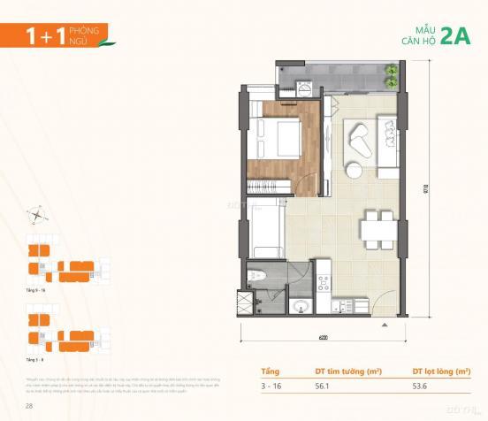 Tôi - chính chủ bán căn B.16.14, 1 + 1PN, Ricca Q9, view công viên. Giá tốt chỉ tháng 3 13591821