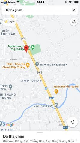 Bán đất 2MT QL 1A và đường 27m Trần Phú gần trạm thu phí Quảng Nam 1000m2, 18 tỷ 13612434