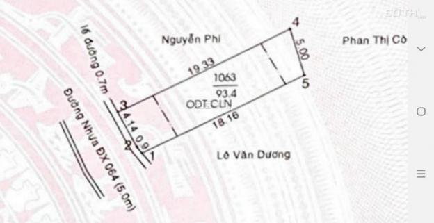 Bán đất mặt tiền DX 064 Định Hòa giá công nhân Đường nhựa 5 mét đường thông 5 x 19m thổ cư 60m2 13591416