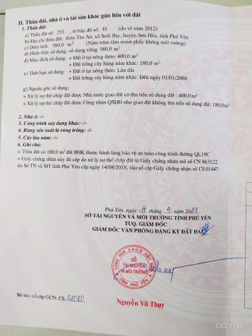 Bán đất thổ cư tại Quốc Lộ 19C thôn Tân An, huyện Sơn Hòa, tỉnh Phú Yên 13622671