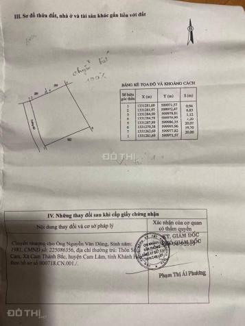 Đất phù hợp thổ cư Tân Phú, Cam Thành Bắc, Cam Lâm giá 55 triệu/mét ngang cách quốc lộ hơn 200m 13693622