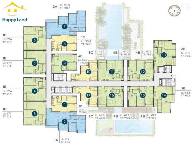 Mừng tân niên nhận nhà mới với căn hộ Precia, đủ căn 1PM - 2PN - 3PN. VAY bank 70% 13743714